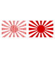 japanese rising sun collage of binary digits vector image vector image