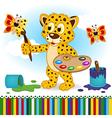 leopard paints butterflies vector image