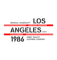 los angeles typography design vector image vector image