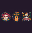 mexican collection compositions in mood vector image vector image
