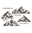 mountains and rocks set vector image vector image