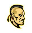 native american mohawk mascot vector image vector image