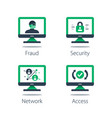 network security system online safety strong vector image