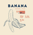 nutrition facts ripe banana vector image vector image
