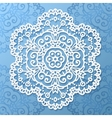 Ornate lacy white paper napkin