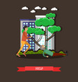 outside help concept in flat vector image vector image
