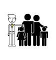 parents with kids vector image