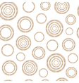 Pattern of Stylized Copper Wire Circles vector image vector image