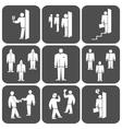 People icon set Office meeting business symbol vector image vector image