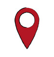 pointer map location navigation gps icon vector image