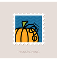 Pumpkin stamp Harvest Thanksgiving vector image vector image