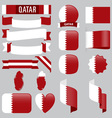 Qatar flags vector image
