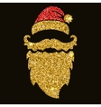 Santa beard in golden style with sparkles Design vector image vector image