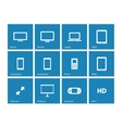 Screens icons on blue background vector image vector image