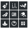 Set of Abortion Icons Equipment Surgery vector image vector image