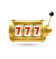 slot machine lucky sevens jackpot winning number vector image vector image