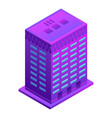 smart building icon isometric style vector image vector image