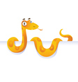 Snake lying down in front of white background vector image