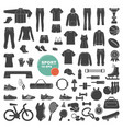 sports and fitness icons vector image vector image