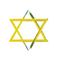 Star of David sign on white vector image vector image