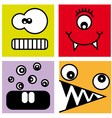 sticker fun monsters vector image