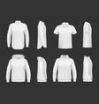 sweatshirt hoodie and shirt realistic mockup vector image
