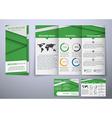 Template triple folding brochure design style vector image