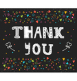 Thank you card design Cute greeting card with vector image vector image