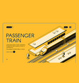 travel with speed railway website template vector image