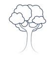 tree nature cartoon vector image