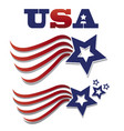 usa star flag set icon vector image vector image