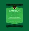 vertical modern certificate template vector image