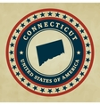Vintage label Connecticut vector image vector image
