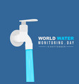 water flows from faucet vector image vector image