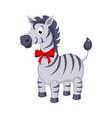 zebra funny alphabet animal vector image