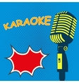Karaoke Old style microphone on pop art style vector image