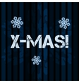 Card with a Christmas song and greeting Merry vector image
