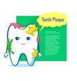 Cute aching tooth character vector image