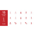 15 plier icons vector image vector image