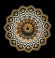 3d baroque round zigzag mandala pattern vector image vector image
