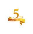 5 year ribbon anniversary vector image