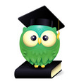 a cute lillte owl wearing vector image