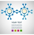 abstract blue men on a white background vector image