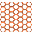 abstract hexagon geometry background vector image vector image