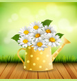 armful of daisy realistic composition vector image vector image