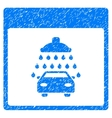 Automobile Shower Calendar Page Grainy Texture vector image vector image