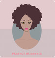 beautiful african american woman with lovely vector image vector image