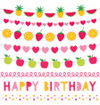 birthday party fruit decoration set vector image vector image