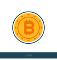 bitcoin icon in flat design vector image vector image