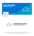 blue business logo template for mountain vector image